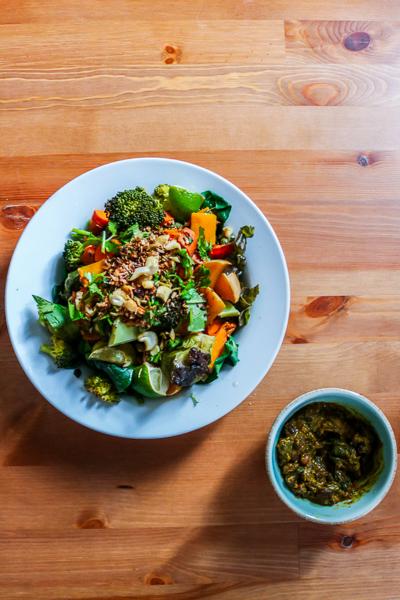 spinach-adzuki-bean-curry-plate